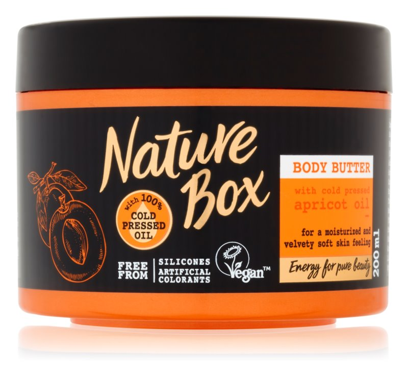 Nature Box Apricot intenzívne hydratačné telové maslo pre jemnú a hladkú pokožku