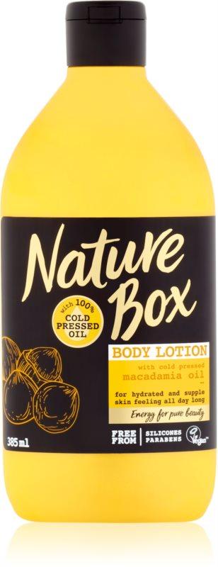 Nature Box Macadamia hranilni losjon za telo z vlažilnim učinkom