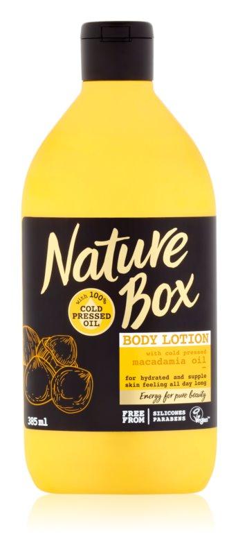 Nature Box Macadamia vyživující tělové mléko s hydratačním účinkem