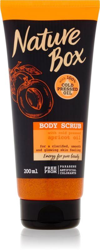 Nature Box Apricot negovalni piling za telo za osvetljevanje kože in hidratacijo