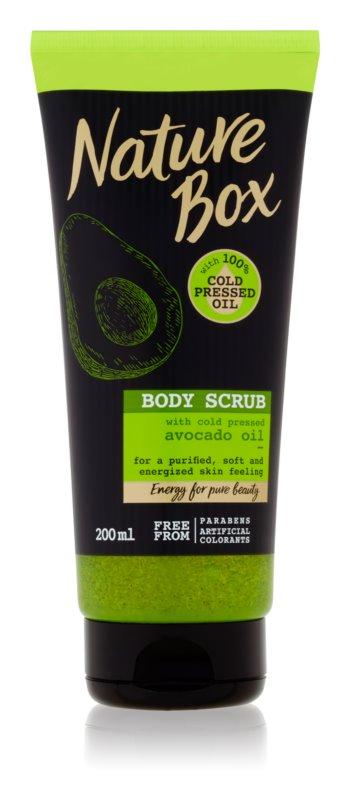 Nature Box Avocado čistiaci telový peeling