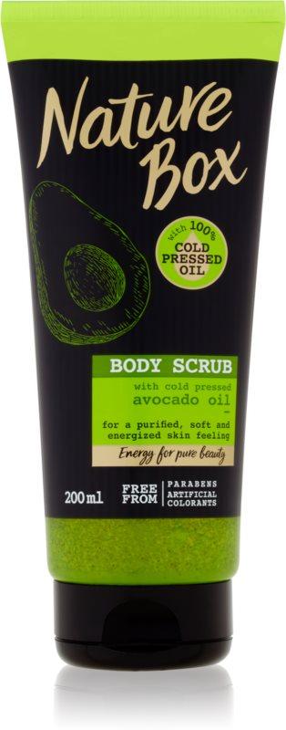 Nature Box Avocado čisticí tělový peeling