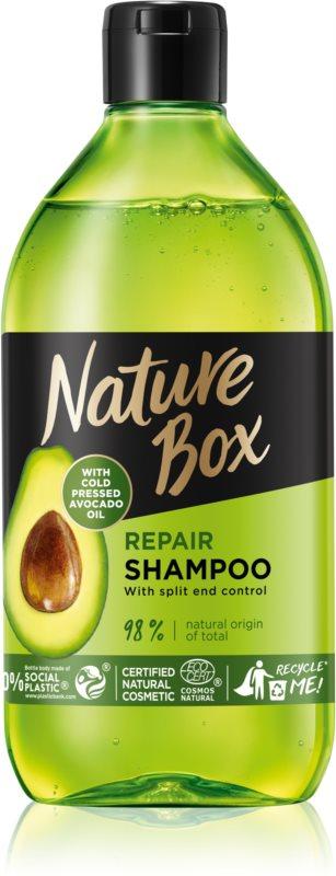 Nature Box Avocado mélyregeneráló sampon a töredezett hajvégekre