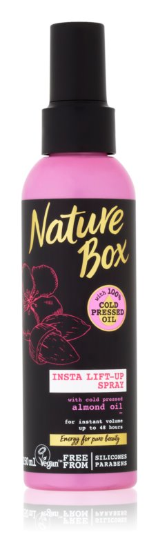 Nature Box Almond sprej na vlasy pro objem