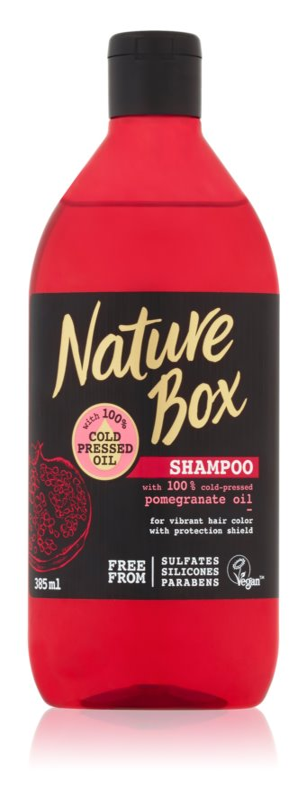 Nature Box Pomegranate vlažilni in revitalizacijski šampon za zaščito barve