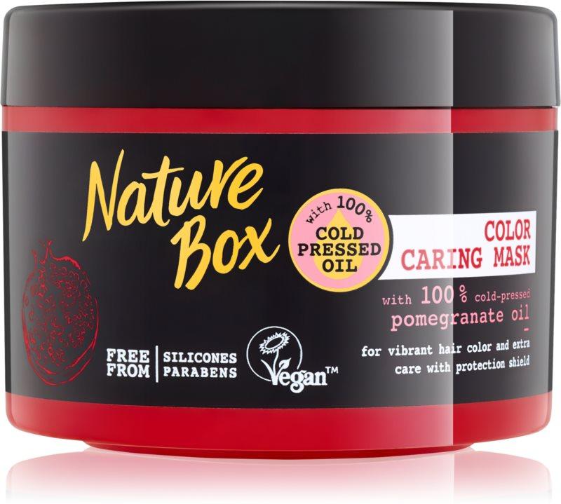 Nature Box Pomegranate maschera per capelli nutriente e idratante protezione colore