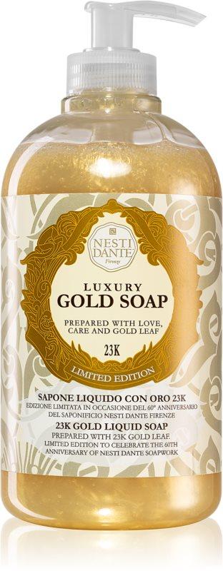 Nesti Dante Gold tekuté mydlo na ruky s pumpičkou