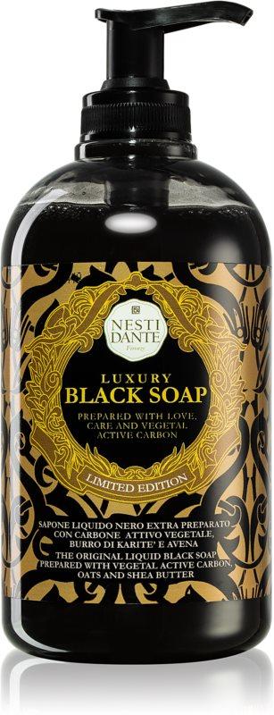Nesti Dante Black tekuté mýdlo s pumpičkou