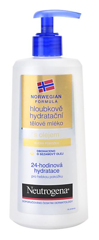 Neutrogena Norwegian Formula® Deep Moisture hĺbkovo hydratačné telové mlieko s olejom