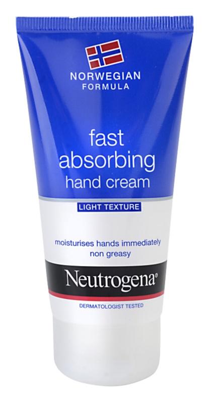 Neutrogena Hand Care Fast Absorbing Hand Cream - Light Texture
