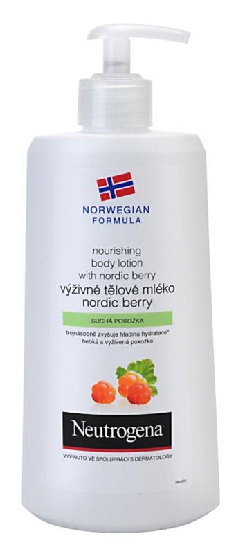 Neutrogena Norwegian Formula® Nordic Berry vyživující tělové mléko pro suchou pokožku
