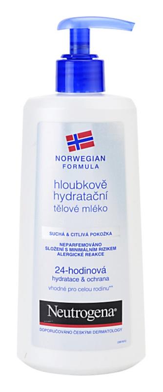 Neutrogena Norwegian Formula® Deep Moisture зволожуюче молочко для тіла для сухої та чутливої шкіри