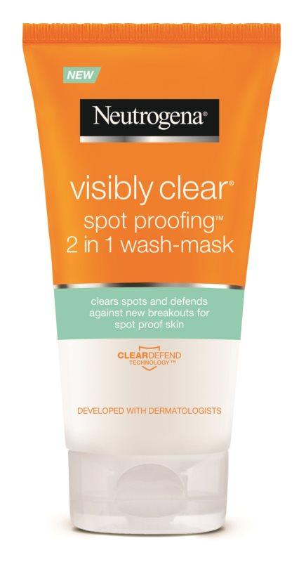 Neutrogena Visibly Clear Spot Proofing čistiaca emulzia a maska 2 v 1
