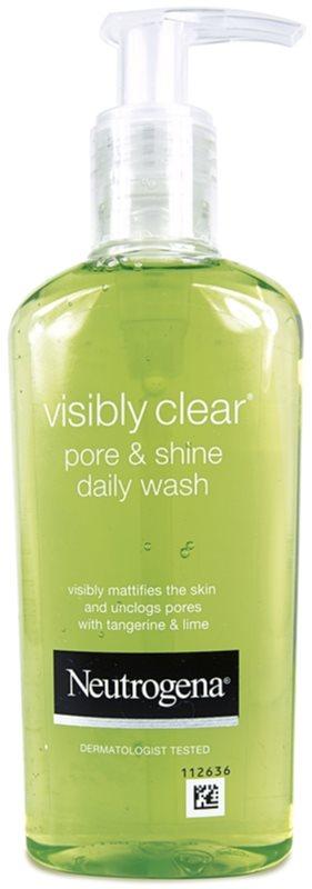 Neutrogena Visibly Clear Pore & Shine čistiaci gél proti lesknutiu pleti a rozšíreným pórom