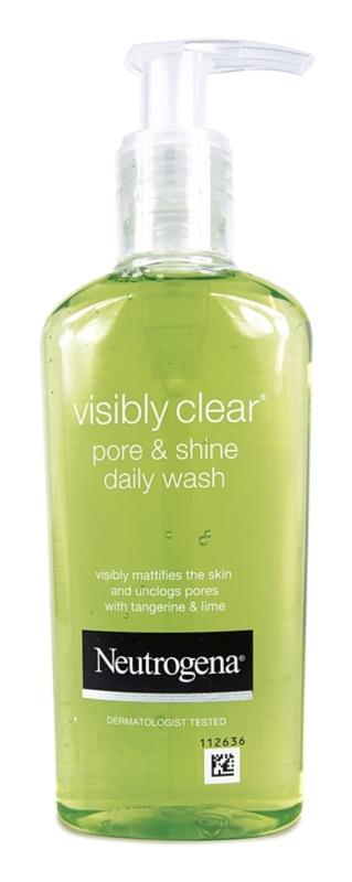 Neutrogena Visibly Clear Pore & Shine gel de curatare pentru piele lucioasa cu pori dilatati