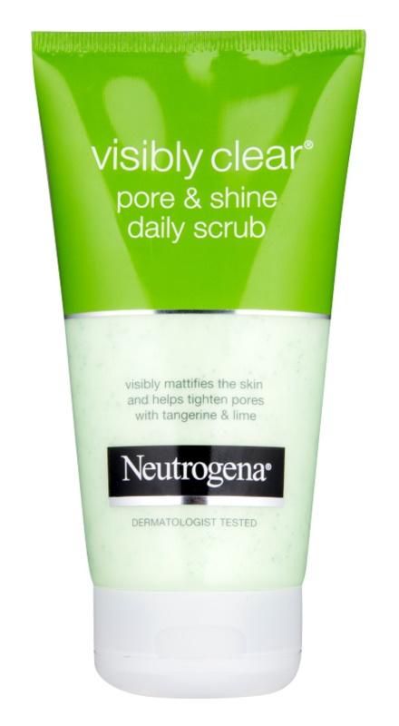 Neutrogena Visibly Clear Pore & Shine pleťový peeling pro každodenní použití