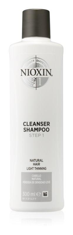 Nioxin System 1 почистващ шампоан за фина към нормална коса