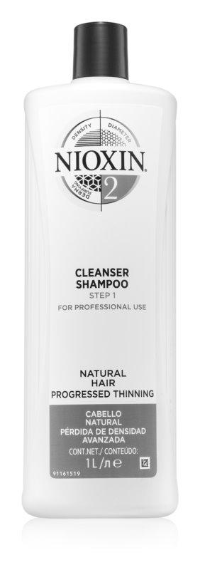 Nioxin System 2 čistilni šampon za tanke do normalne lase