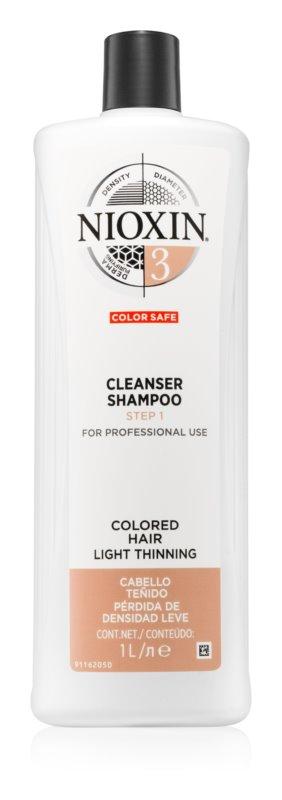 Nioxin System 3 čistilni šampon za barvane redke lase