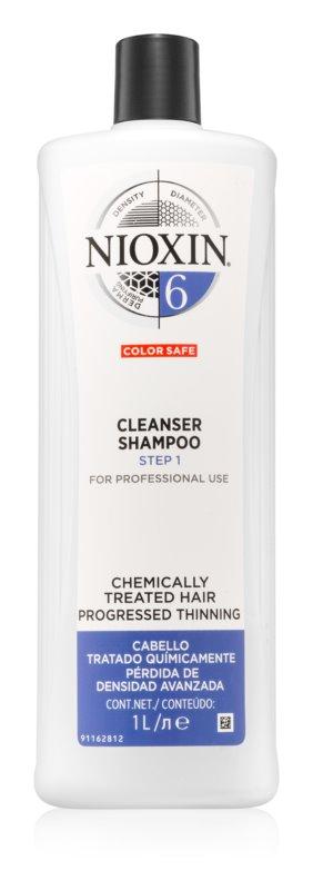 Nioxin System 6 čistiaci šampón pre chemicky ošterené vlasy