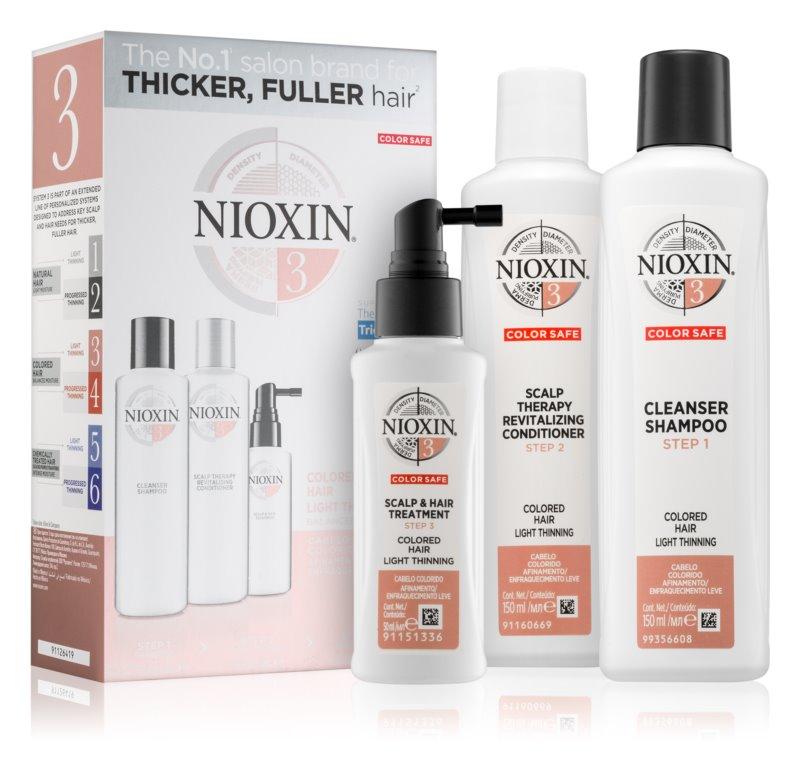 Nioxin System 3 kozmetični set III. (za barvane lase)