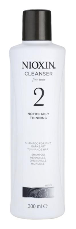 Nioxin System 2 champô para queda excessiva do cabelo naturalmente fino