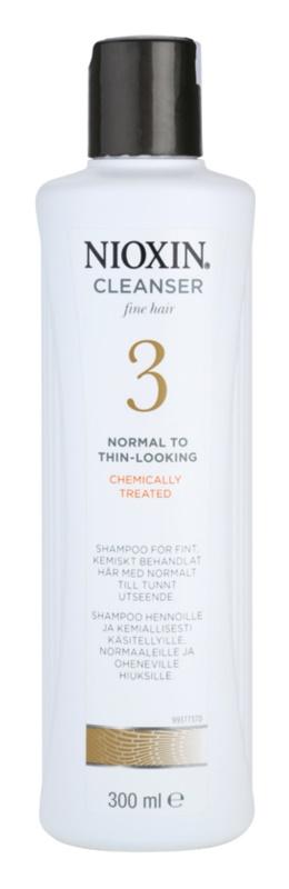 Nioxin System 3 šampón pre počiatočné mierne rednutie jemných chemicky ošetrených vlasov