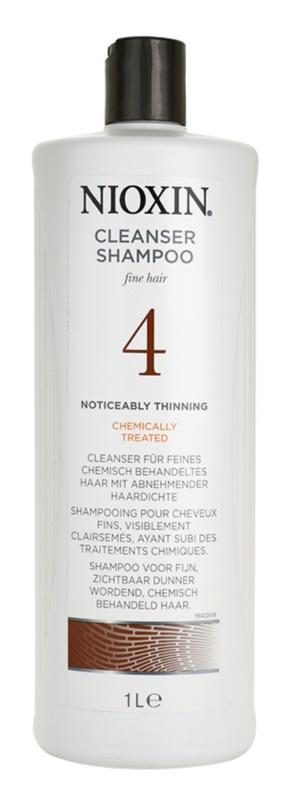 Nioxin System 4 šampón pre výrazne rednúce, jemné a chemicky ošetrené vlasy