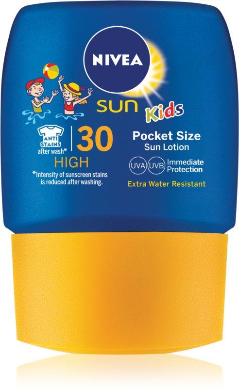 Nivea Sun Kids leite solar de bolso para crianças SPF 30