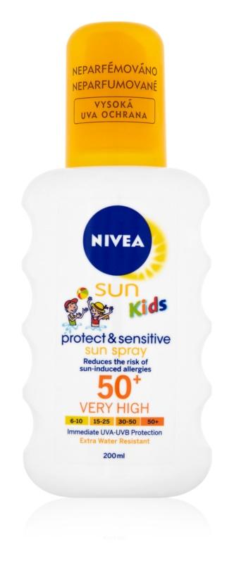 Nivea Sun Kids дитячий спрей для засмаги SPF50+