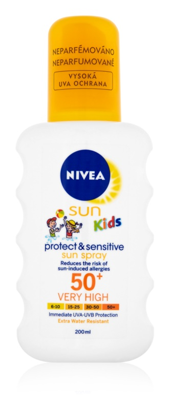 Nivea Sun Kids dětský sprej na opalování SPF50+