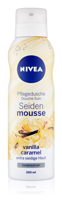 Nivea Silk Mousse Vanilla Caramel jedwabisty mus do mycia ciała