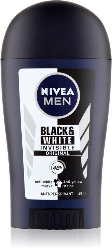 Nivea Men Invisible Black & White antiperspirant împotriva petelor albe și galbene 48 de ore