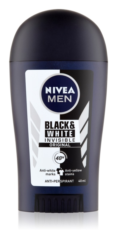 Nivea Men Invisible Black & White antitranspirante antimanchas blancas y amarillas 48h