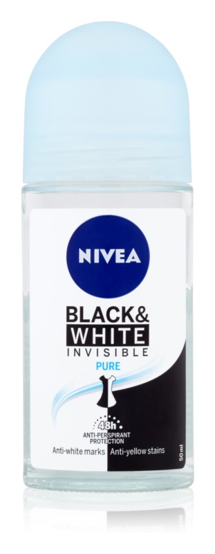 Nivea Invisible Black & White Pure antiperspirant roll-on
