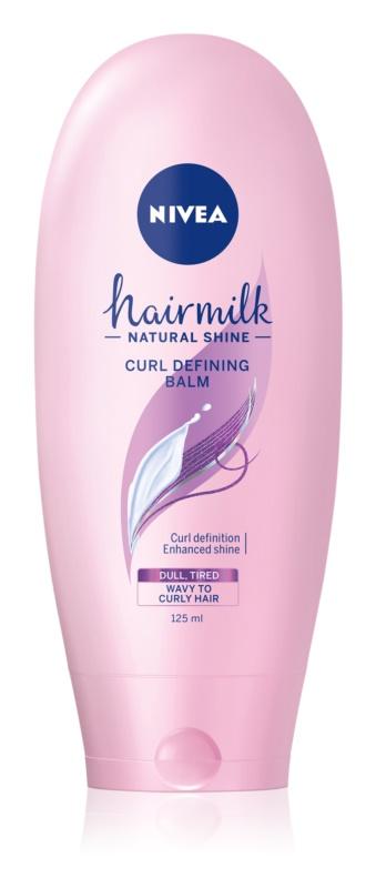 Nivea Hairmilk Natural Shine balzám pro zvýraznění vlnitých vlasů