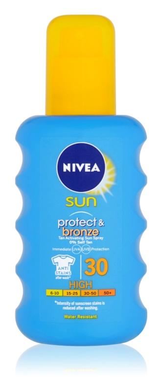 Nivea Sun Protect & Bronze spray solar intensivo SPF 30