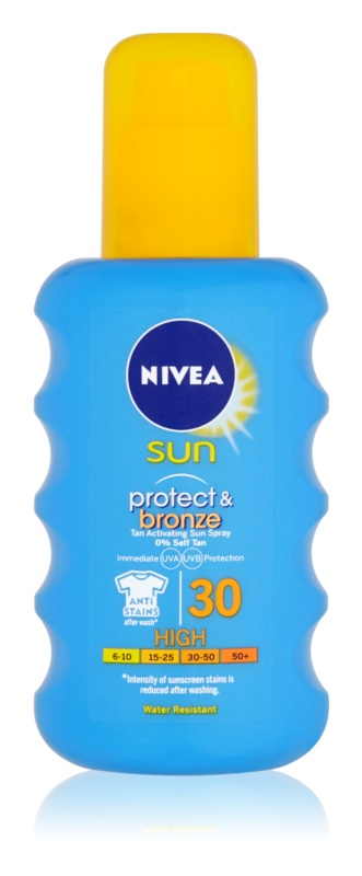 Nivea Sun Protect & Bronze spray solar intensivo SPF 30