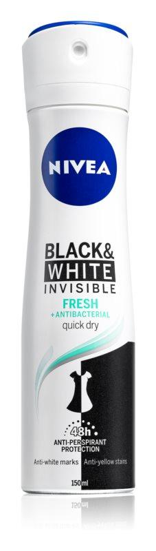 Nivea Invisible Black & White Fresh antiperspirant proti belim in rumenim madežem