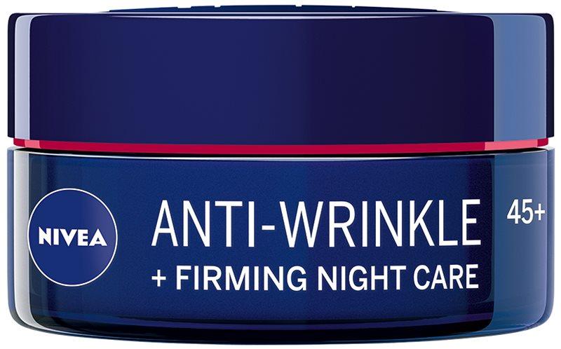 Nivea Anti-Wrinkle Firming spevňujúci nočný krém proti vráskam 45+