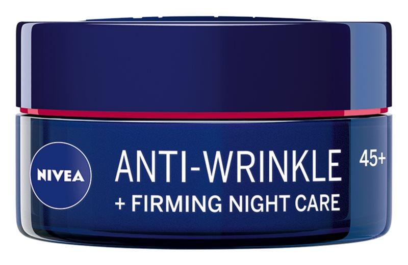 Nivea Anti-Wrinkle Firming zpevňující noční krém proti vráskám 45+