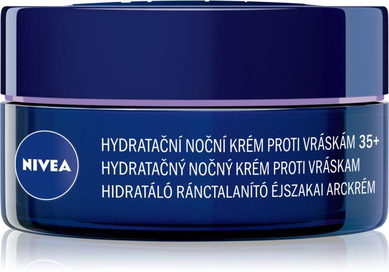 Nivea Anti-Wrinkle Moisture hydratační noční krém proti vráskám 35+