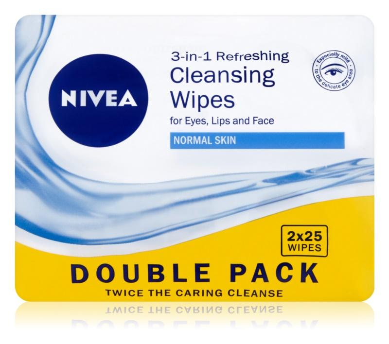 Nivea 3in1 Refreshing odličovací ubrousky pro normální pleť