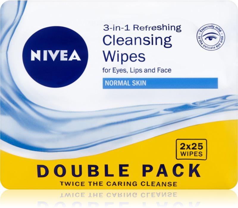 Nivea 3in1 Refreshing odličovacie obrúsky pre normálnu pleť