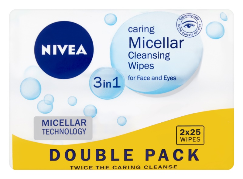 Nivea Micellar čistiace pleťové micelárne obrúsky 3v1