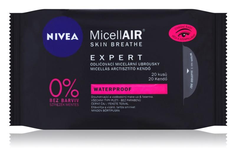 Nivea MicellAir  Expert Mizellengesichtstücher zur Make-up-Entfernung