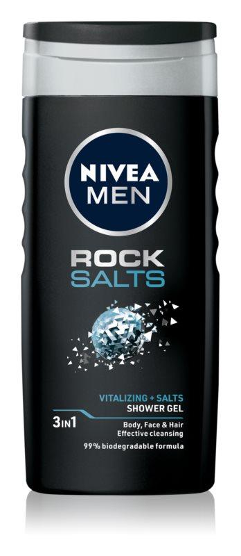 Nivea Men Rock Salt gel de dus pentru față, corp și păr