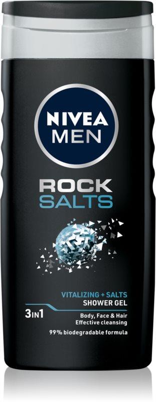 Nivea Men Rock Salt sprchový gel na obličej, tělo a vlasy