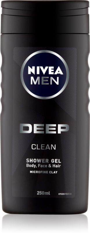 Nivea Men Deep gel za prhanje za obraz, telo in lase