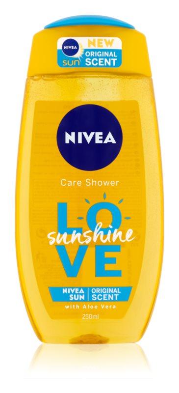 Nivea Love Sunshine osvežujoč gel za prhanje z aloe vero